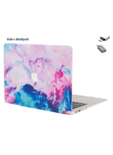 """Mcstorey Yeni MacBook Pro Type-c A1706 A1708 A1989 A2159 13"""" Kılıf Kapak Koruma  Paint 01-68-1448 Renkli"""